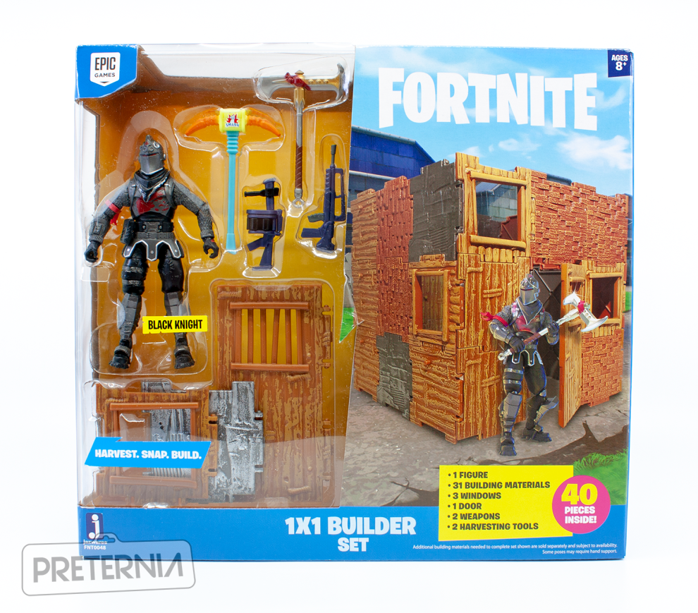 Jazwares Fortnite 3 3/4-inch Series 2 1x1 Builder Set with Black Knight Review