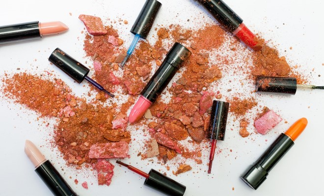cosmo beauty lipstick and powder