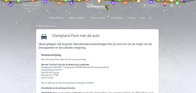 Adres Disneyland Parijs