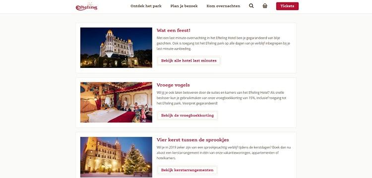 Hotel arrangementen bij de Efteling