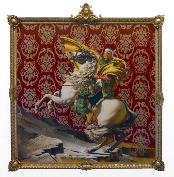 """Napoleon Leading the Army over the Alps"" by Kehinde Wiley"