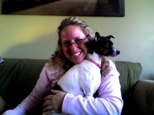 PAWS- Diane with Dixie the rat terrier