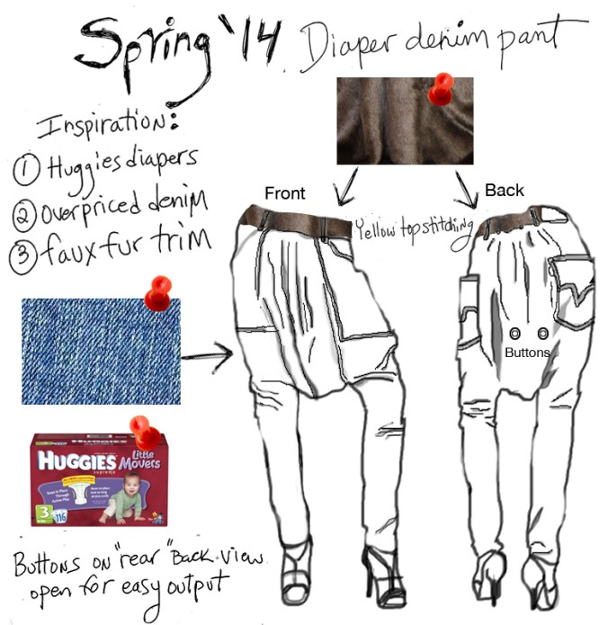 Denim Diaper Pants are a fashion statement.