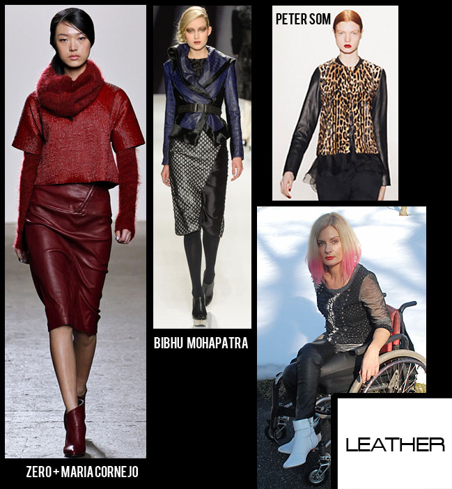 Leather collection from Fall 2013 NY fashion week