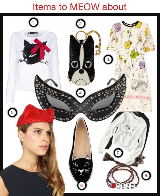 Cat motifs in women's fashion