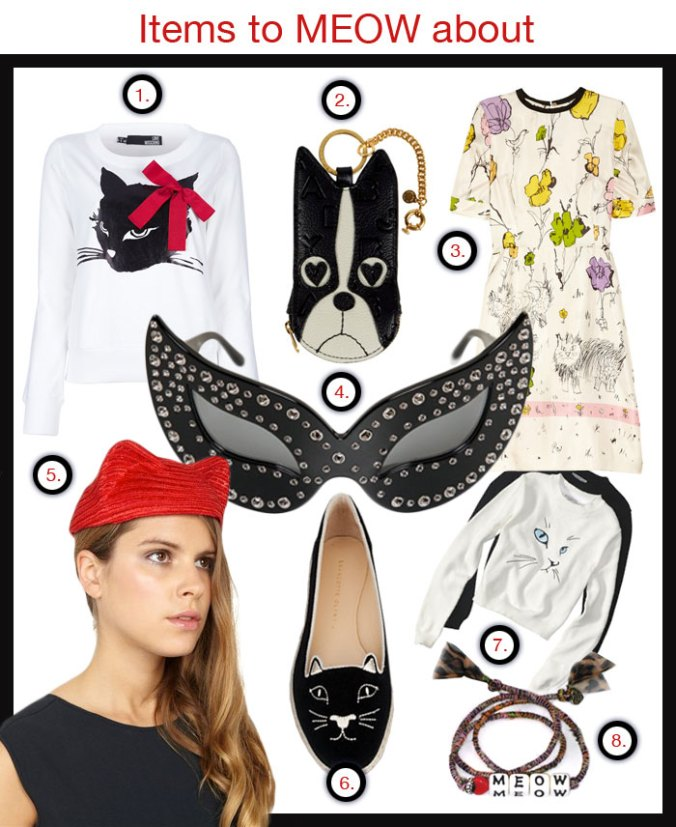 Cat motifs in women's fashion