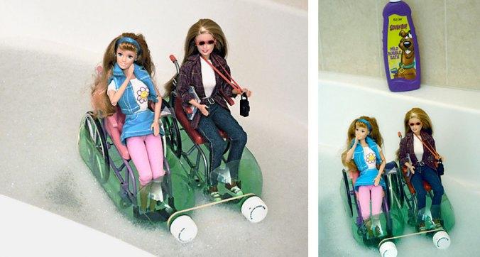 Wheelchair-Barbies-in-Boats-Bubblebath