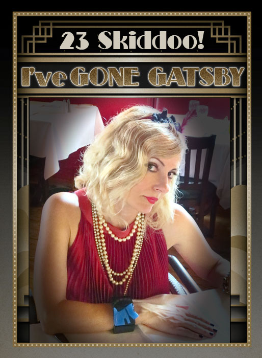 Magda as flapper for Great Gatsby movie