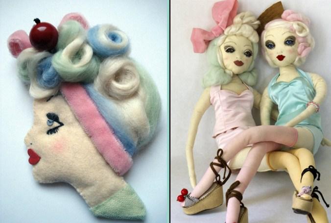Amanda Fatherazi Brooch and Dolls