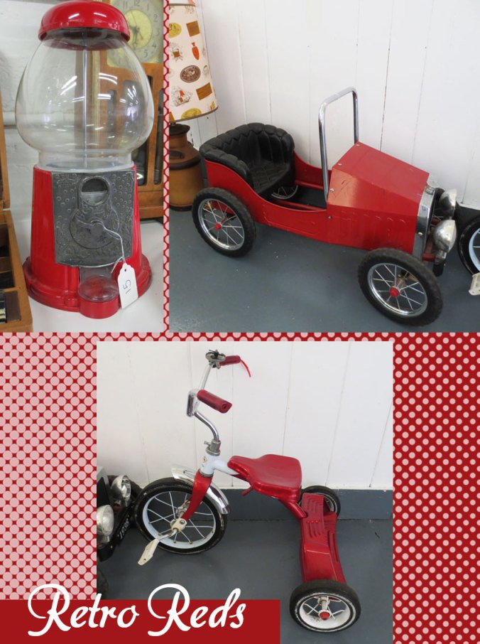 auction items in retro red