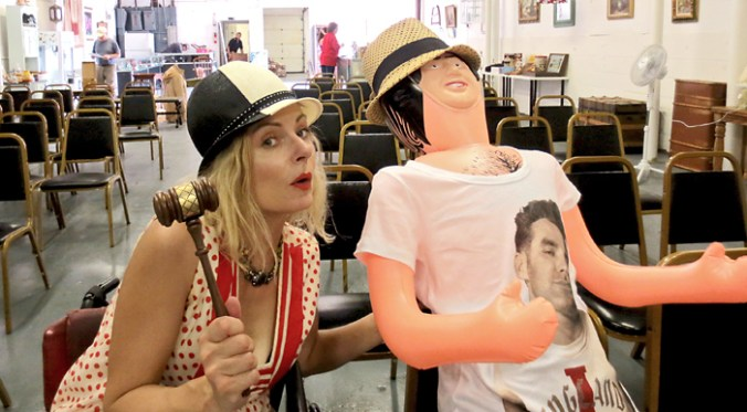at a NY auction with a blow up doll