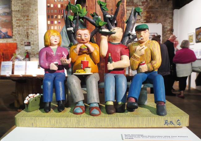 Ruth Geneslaw wood sculpture