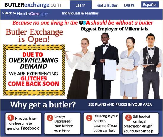 Butler Exchange.com - hire a butler a new social entitlement program