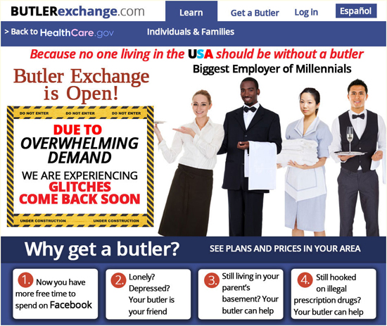 Butler Exchange.com - hire a butler a new social entitlement program