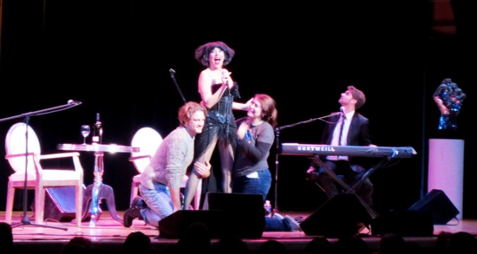 Meow Meow performing at Town Hall NYC with Amanda Palmer