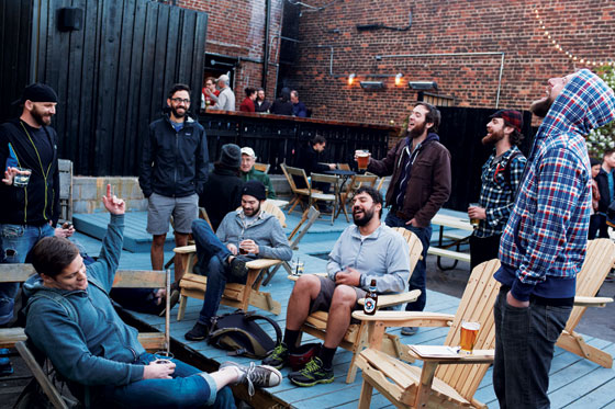 Brooklyn Bearded guys Lumberjack hipsters