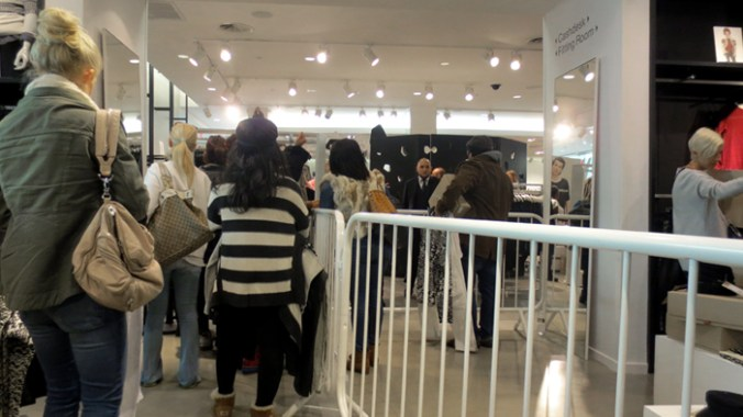 the line at H&M Isabel Mirant in NJ