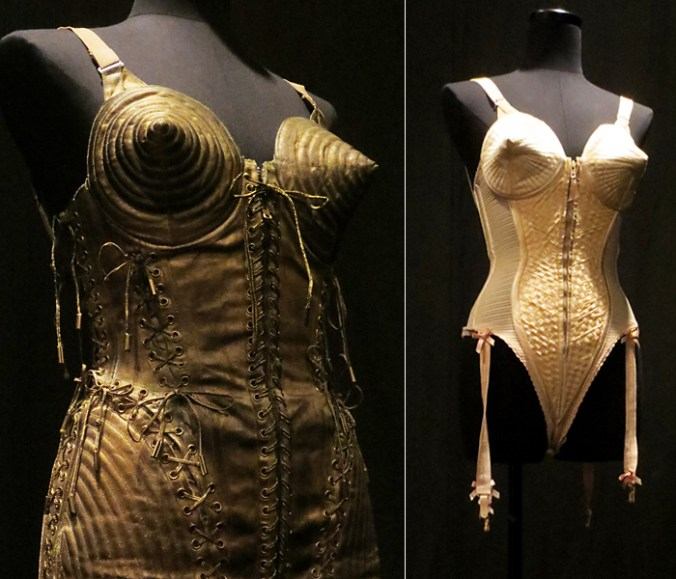 Madonnas corset from Gaultier exhibit