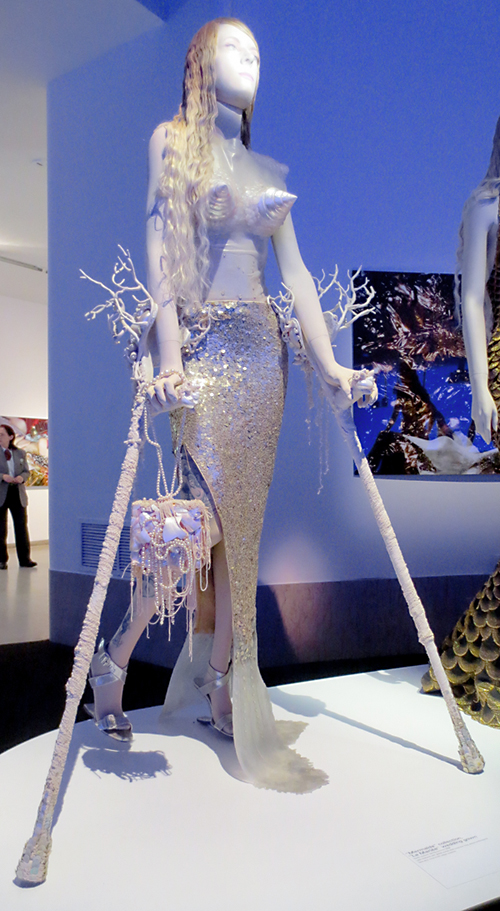 Crippled mermaid from Gaultier exhibit