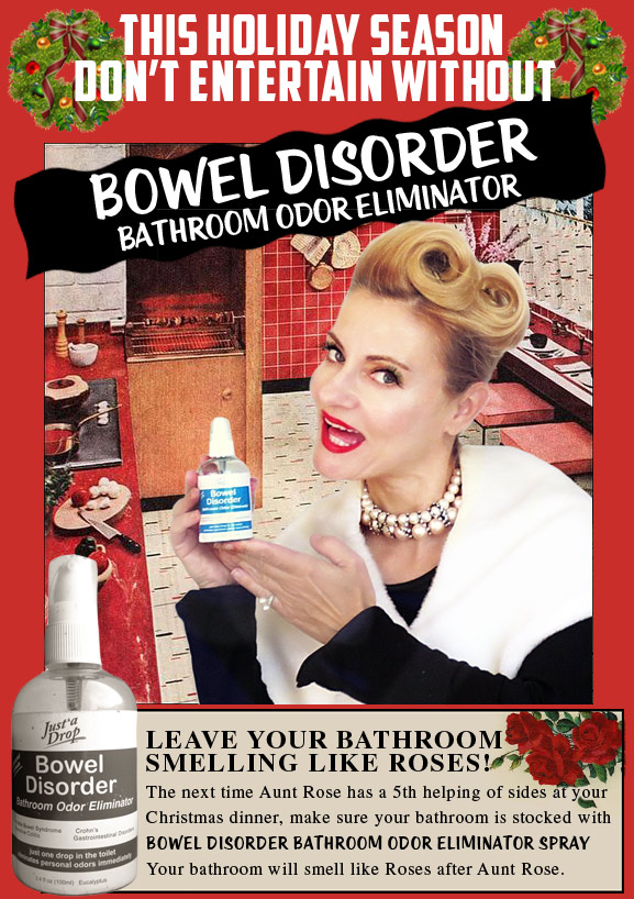 Just a Drop Bowel Disorder Spray for the hoiidays