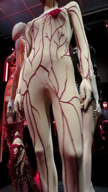 Gaultier body costume in skin deep exhibit
