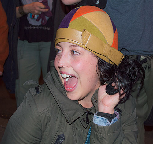 Pixies Fan Port Chester NY with cloche vintage hat