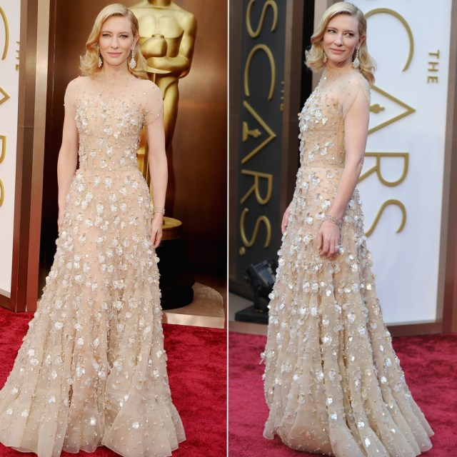 Cate Blanchett Oscars dress 2014 Armani