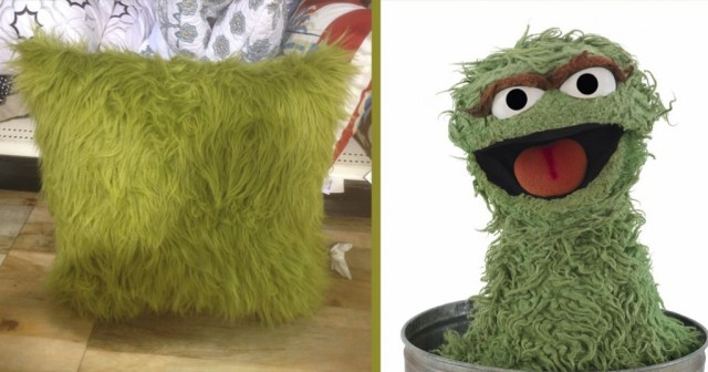 A pillow Oscar the Grouch would love at HomeGoods