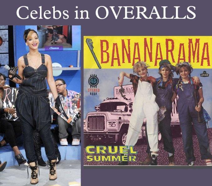 Celebrities in overalls