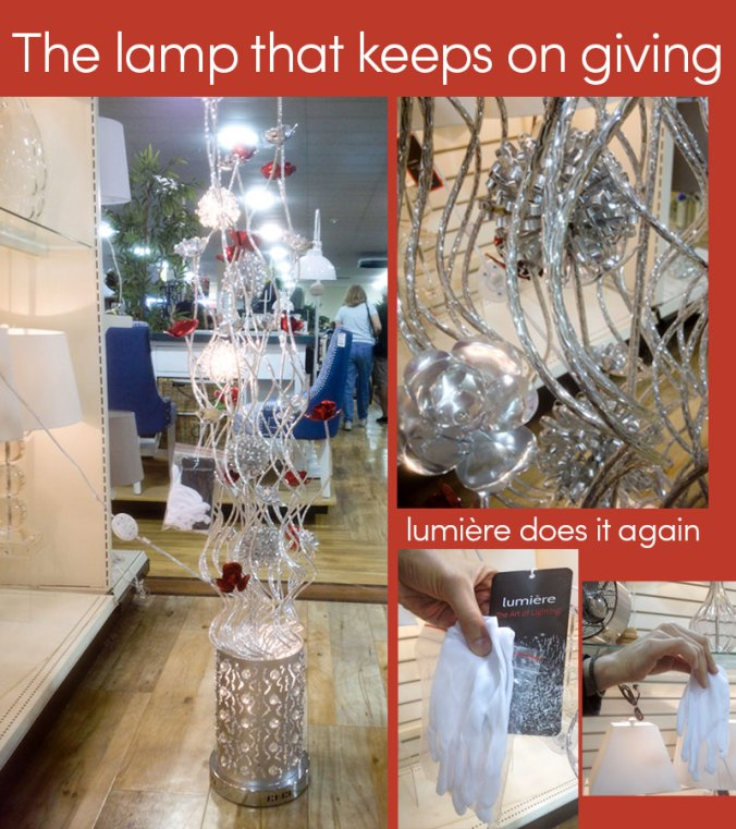 Lumiere lamp at HomeGoods