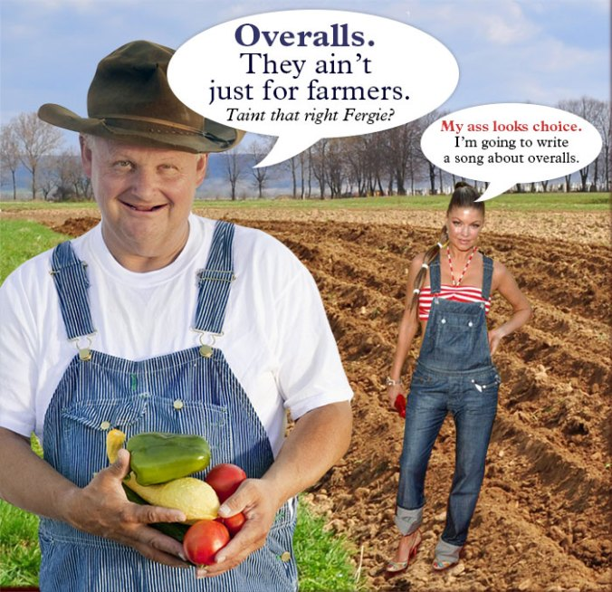 Overalls. They ain't just for farmers. Ain't that right Fergie?