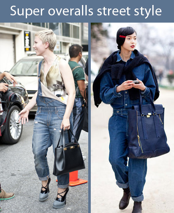 Street stylers wearing great overalls looks