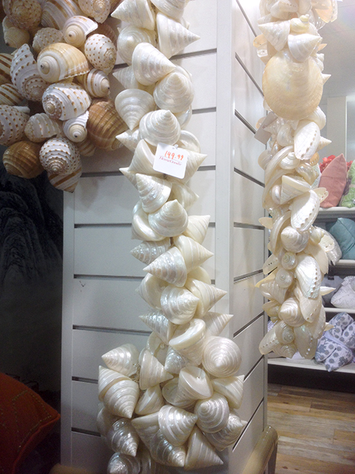 shells wreath at HomeGoods