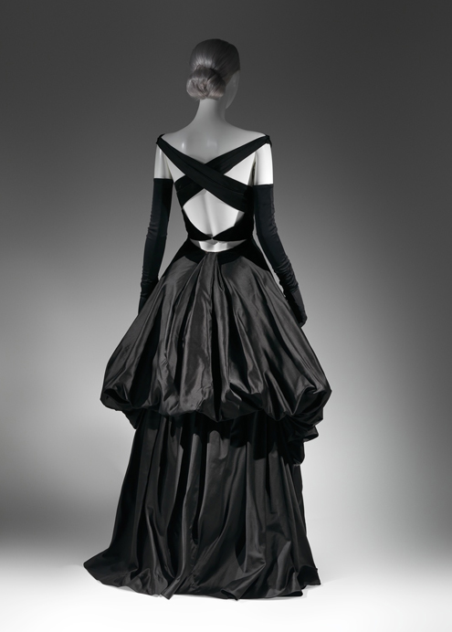 Charles James Black Evening Dress