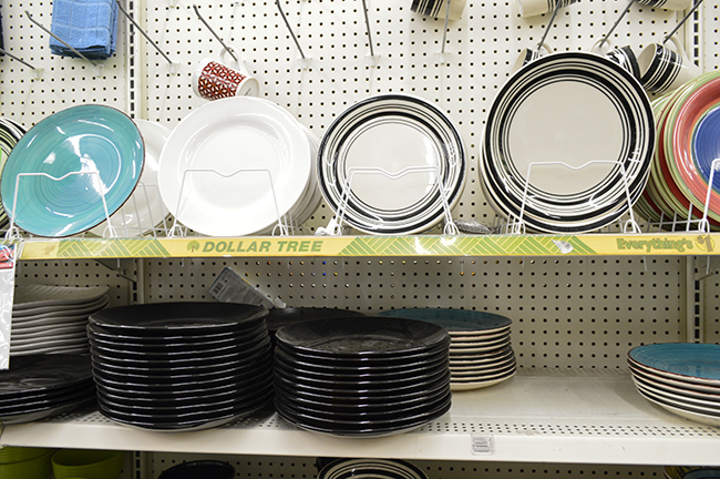 dollar tree dishes and china