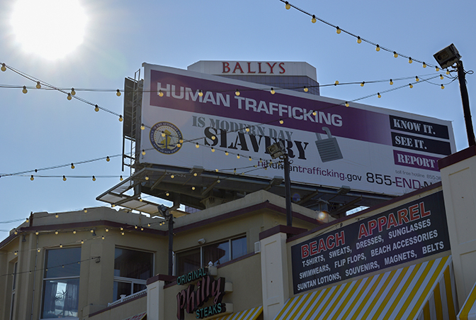 Human trafficking billboard atlantic city