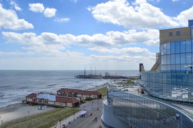 Revel Hotel roof top view and Atlantic ocean