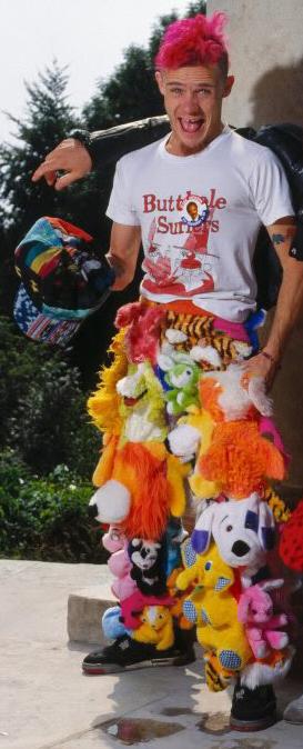 Flea Red Hot Chili Peppers stuffed dog animal pants.