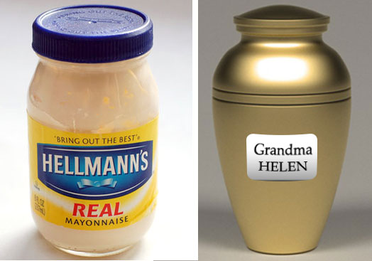mayonnaise and grandma's urn