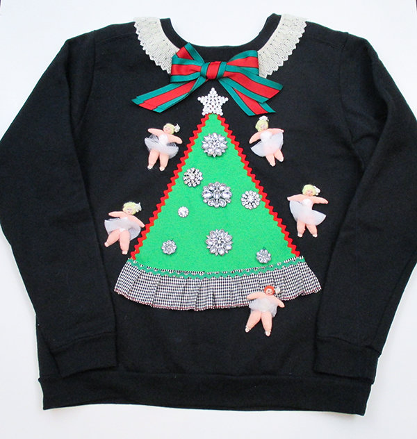 Jamie Kreitman Ugly Christmas sweater for a DIY project on PrettyCripple.com