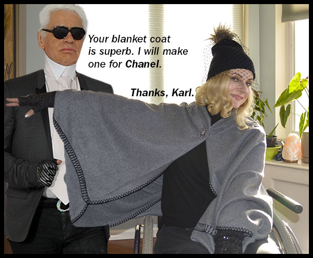 Blanket Cape trend with Karl Lagerfeld