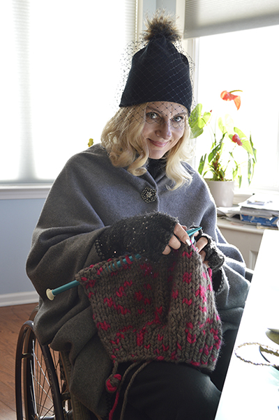 Wheelchair disabled blogger and killer knitter