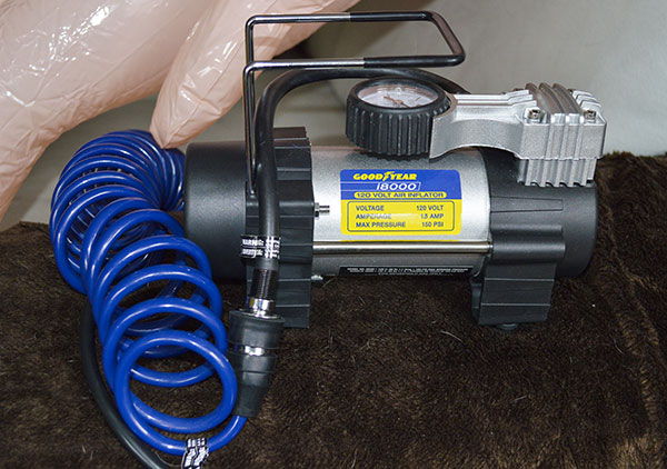 Goodyear 18000 120 volt air inflator is great to pump wheelchair tires.