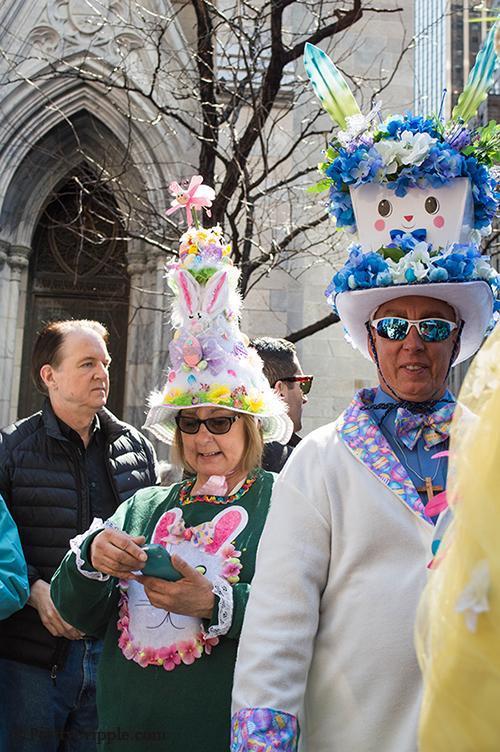 Rabbit man at the nyc easter hat parade