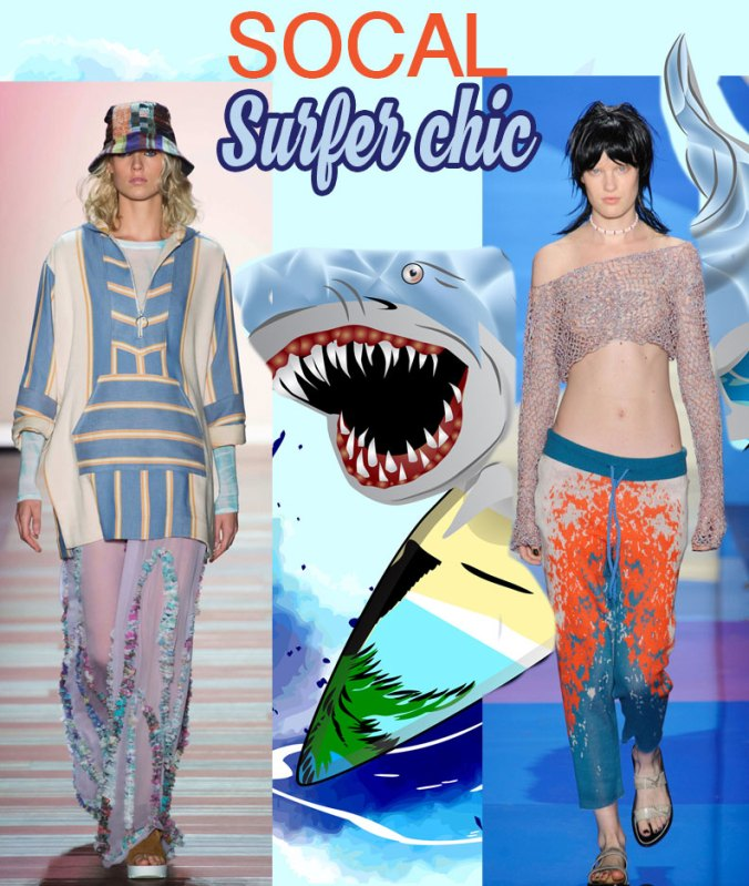 Surfer socal chic Spring 2016 - NY Fashion Week