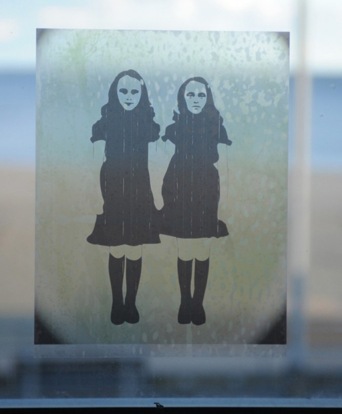 The Shining twins on vinyl sticky posters