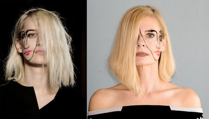 Jacquemus Paris Runway 2015 show with Pretty Cripple surreal makeup inspiration