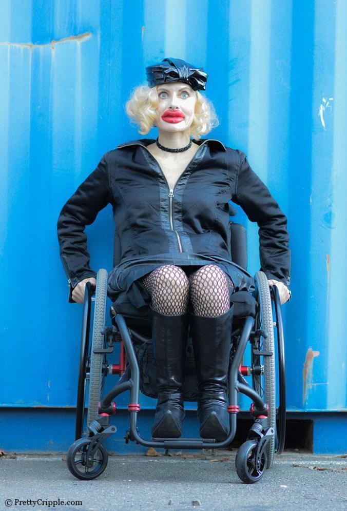 Pretty Cripple Kylie Jenner Wheelchair parody