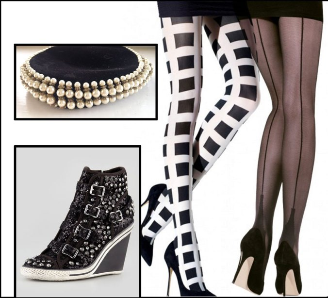 black accessories to complement a little black dress