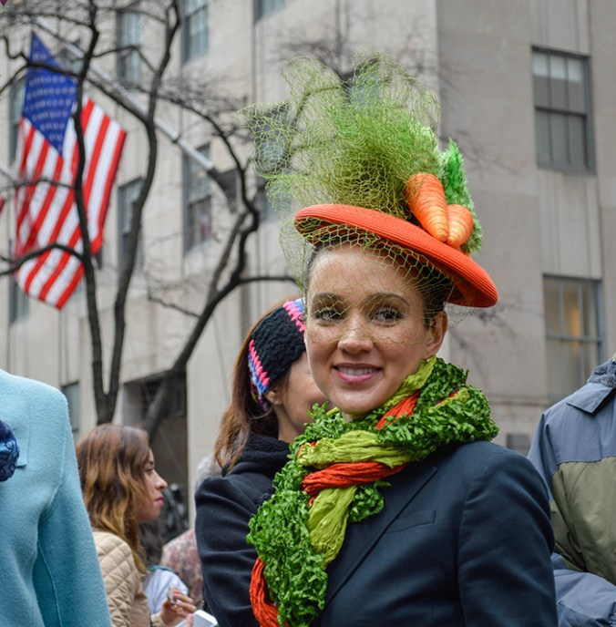 carrot hat -fascinator easter hat parade nye 2016